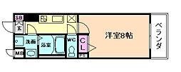 アドバンス西梅田IIIエミネンス[10階]の間取り