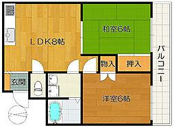 メゾン・ド・竹ノ塚[1階]の間取り