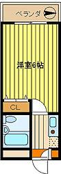 第10新井ビル[402号室]の間取り