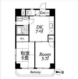 音羽ビル[4階]の間取り