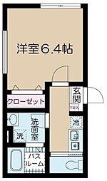 JR総武線 吉祥寺駅 徒歩7分の賃貸マンション 1階1Kの間取り