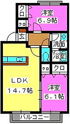 ティアラクレイン[2階]の間取り