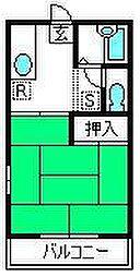 埼玉県さいたま市北区東大成町2丁目の賃貸アパートの間取り