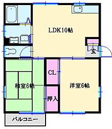 昭栄ホームズB[2階]の間取り