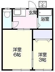 青葉荘[101号室]の間取り