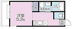 (仮称)大宮区大成町計画 2階ワンルームの間取り