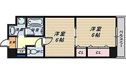 大阪府堺市堺区三宝町1丁の賃貸マンションの間取り