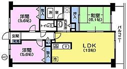 HILL TOP KOUYAMA[2階]の間取り
