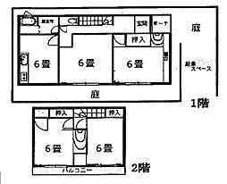 [一戸建] 神奈川県茅ヶ崎市香川1丁目 の賃貸【/】の間取り