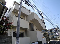 福岡県福岡市早良区西新2の賃貸アパートの外観