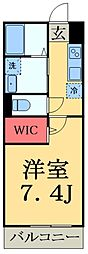 JR総武線 津田沼駅 徒歩6分の賃貸アパート 3階1Kの間取り