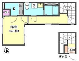 仮)大田区東矢口3丁目1410新築アパート[302号室]の間取り