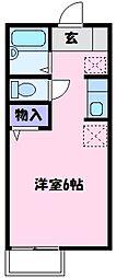 アメニティ大美野B[2階]の間取り