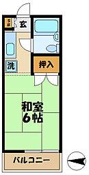 東京都多摩市豊ヶ丘1丁目の賃貸アパートの間取り