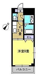 ラポール豊田[3階]の間取り