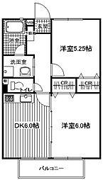 サンフラワー横浜[303号室]の間取り
