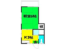 高田コーポ[201号室]の間取り
