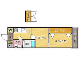 プロジェクト2100日赤通りNo.51[3階]の間取り