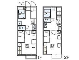 レオパレス陽空[1階]の間取り