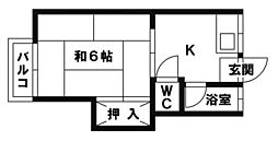 園田コーポ[205号室]の間取り