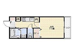 サンリット星田[2階]の間取り