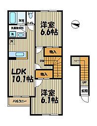 サニーヒル上町屋[2階]の間取り
