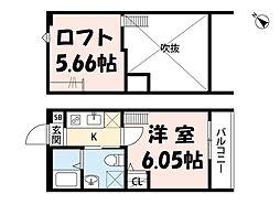 ティモアール東川口[1階]の間取り