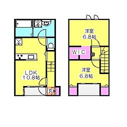 [テラスハウス] 神奈川県横浜市港北区日吉1丁目 の賃貸【/】の間取り