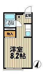 ドミール大船[203号室]の間取り