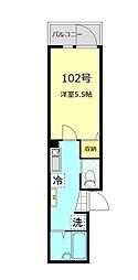 東京都足立区加賀1丁目の賃貸アパートの間取り