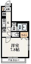 JR中央線 四ツ谷駅 徒歩8分の賃貸マンション 3階1Kの間取り