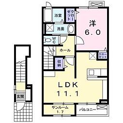 ディアーコートI[2階]の間取り