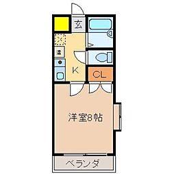 ロイヤルコート井尻[2階]の間取り