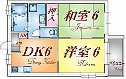 メゾン桜木B棟[1階]の間取り