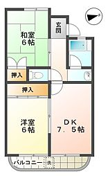 愛知県豊田市高上1丁目の賃貸マンションの間取り