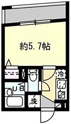 JR山手線 恵比寿駅 徒歩10分の賃貸マンション 3階1Kの間取り