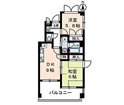 K−CUBE[4階]の間取り