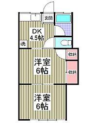 サニーホーム丸屋[1階]の間取り