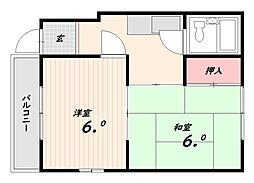 倉本ハイツ[1階]の間取り