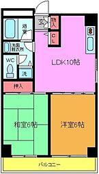 千葉県浦安市北栄1丁目の賃貸マンションの間取り