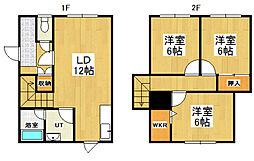 [テラスハウス] 北海道小樽市幸2丁目 の賃貸【/】の間取り