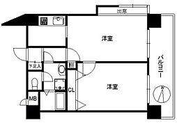 ピュアドーム井尻[508号室]の間取り