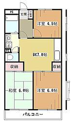 RALLYマンション[5階]の間取り