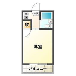 愛知県岡崎市柱曙3丁目の賃貸アパートの間取り