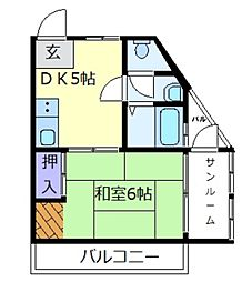 メゾン天美[3階]の間取り