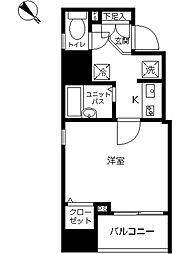 スカイコート本郷東大前弐番館 13階1Kの間取り