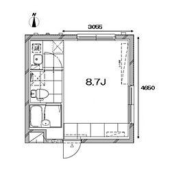 Apartment KURO武蔵小山I[2階]の間取り