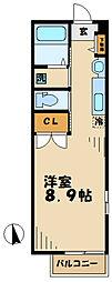 神奈川県川崎市麻生区五力田2丁目の賃貸アパートの間取り