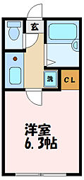 BACE中野島 1階1Kの間取り