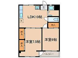 神奈川県横浜市保土ケ谷区法泉3丁目の賃貸マンションの間取り